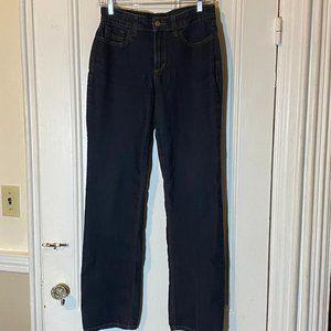 NYDJ Marilyn Straight Fit Jeans Dark Rinse Sz 6